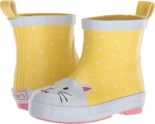 carter's Girls' Rainboot Rain Boot, Yellow, 10 M US Toddler