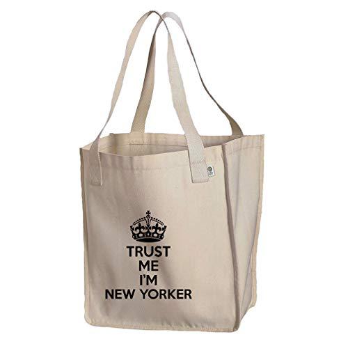 (Trust Me, I'M New Yorker New York Organic Cotton Market Tote Bag)
