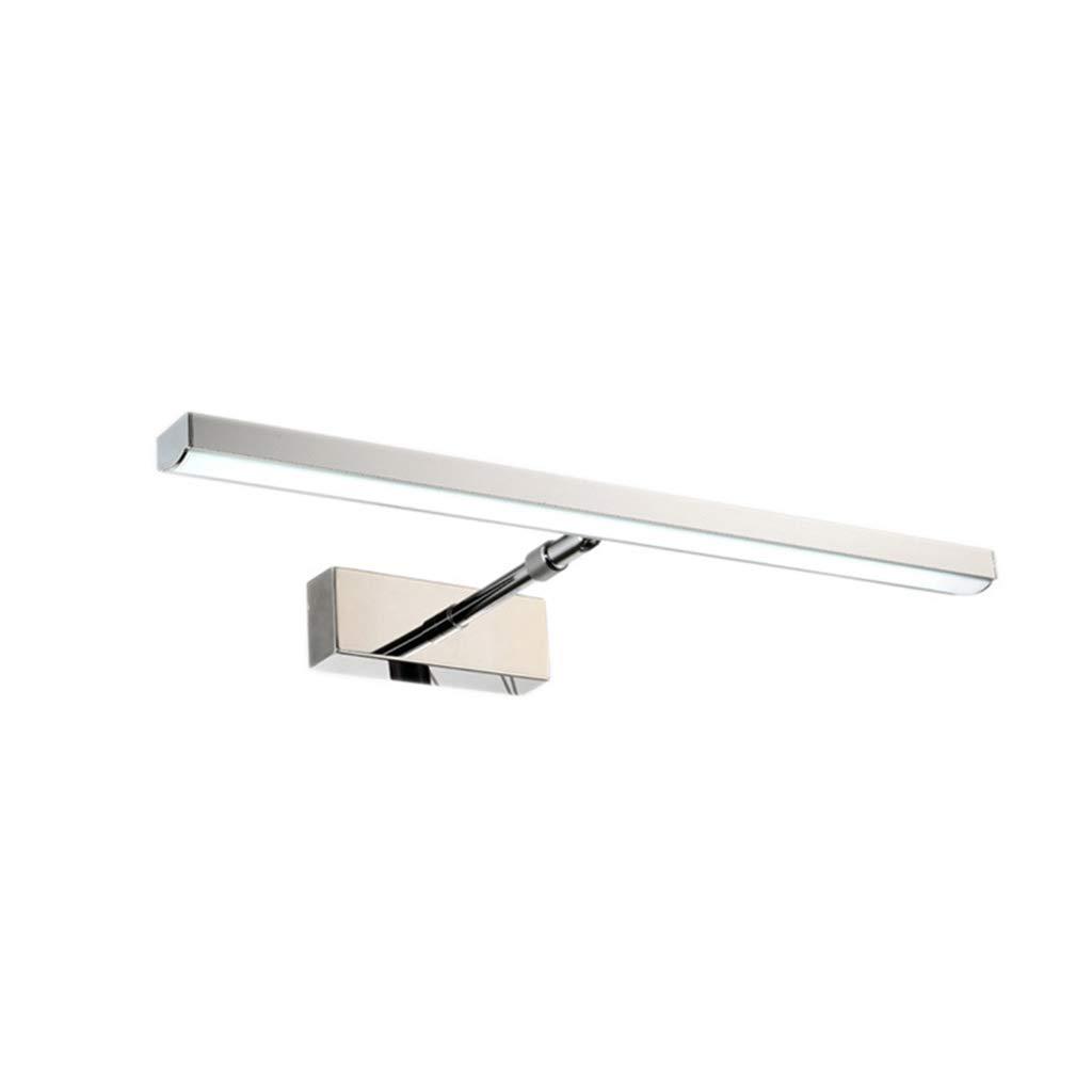 @Badezimmer Lichter LED-Spiegelscheinwerfer - einziehbare Edelstahl-Badezimmerspiegelschranklampe Deckenleuchte (Farbe   weißes Licht-58cm-9w)