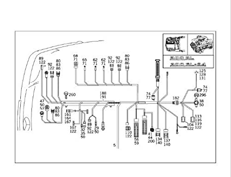 amazon com genuine mercedes r129 sl500 93 95 500sl engine wiring genuine mercedes r129 sl500 93 95 500sl engine wiring harness fuel injection