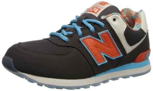 New Balance KL574 Grade Running Shoe (Big Kid),Slate Blue/Red,5.5 W US Big Kid ()