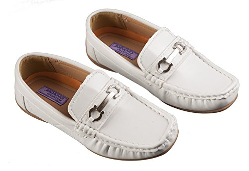 Boys White Loafers Slip on Dress Shoes