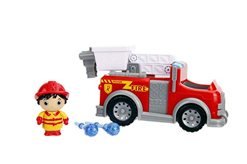 "Jada Toys Ryan's World Fire Truck with Ryan Figure, 6"" Feature Vehicle Red"