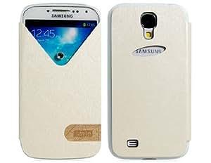 TR Ilavie V Diseño Falso caso del tirón del cuero para Samsung Galaxy i9600 S5 (blanco)