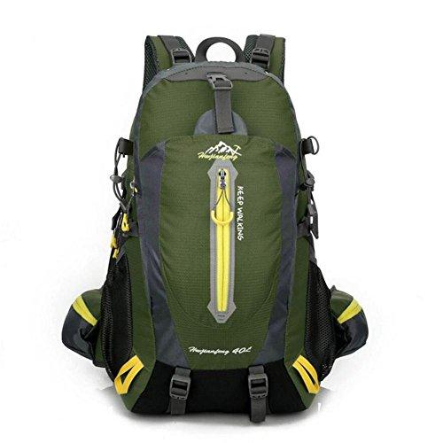 40L impermeable de nylon y las mujeres de los hombres que va de excursión que acampa Mochila Mochila Montañismo Escalada Senderismo ciclo al aire libre se divierte el bolso , black army green