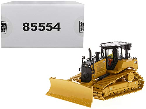 CAT Caterpillar D6 XE LGP Track Type Tractor Dozer with VPAT Blade and Operator High Line Series 1/50 Diecast Model by Diecast Masters 85554
