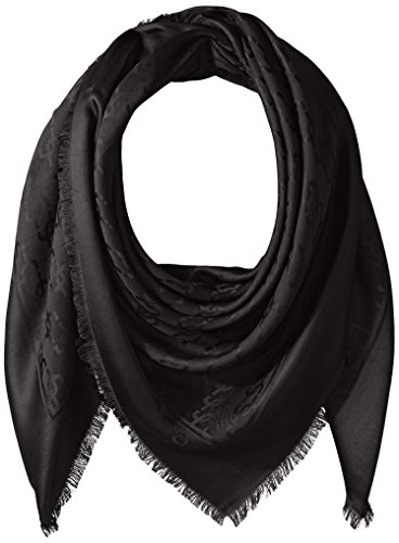 Marc Jacobs Women's Solid Monogram Logo Shawl Black One Size by Marc Jacobs