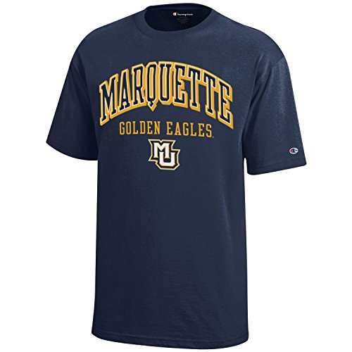 (NCAA Champion Boy's Short Sleeve Jersey T-Shirt Marquette Golden Eagles X-Large )