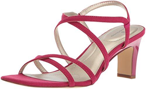 Bandolino Women's Obexx Heeled Sandal, Raspberry, 7.5 M (Pink Dress Sandals)