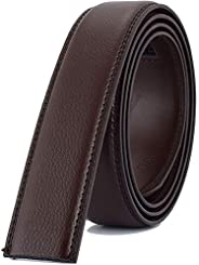 XDeer Men's Leather Belt Strap - Ratchet Belts without Buckle 1 3/8&q