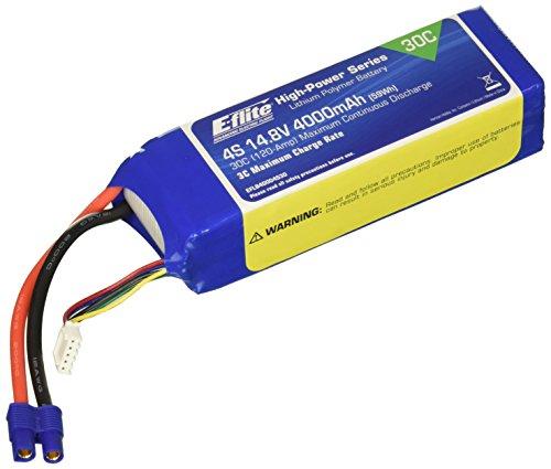 E-flite 14.8V 4000mAh 30C 4S LiPo, 12AWG: EC3, EFLB40004S30
