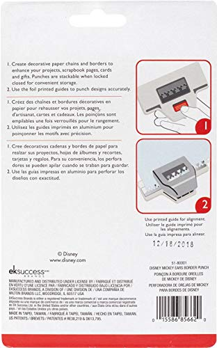 EK SUCCESS/AMERICAN CRAFTS 51-80001 EK Disney Punch Mickey Ear, Gray