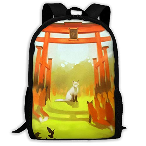 Webb Backpack Briefcase Laptop Travel Hiking School Bags Forest Fox Stylish Daypacks Shoulder Bag