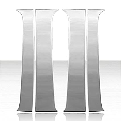 bc9375776af Amazon.com  Pillar Post Cover Set for 2000-2006 GMC Yukon Stainless Steel   Automotive