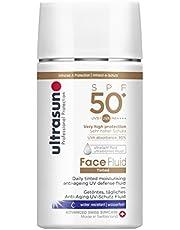 Ultrasun Gezichtsvloeistof SPF50+ anti-aging UV-beschermingsvloeistof, getint honey, per stuk verpakt (1 x 40 ml)