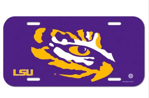 Wincraft NCAA LSU Louisiana State University Tigers 6x12 inch Vanity License Plate