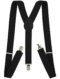 "Men's Suspenders - 1"" Width Adjustable Straps - Stylish Y Back Style by SEEMAVI"
