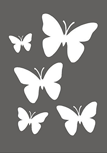 Genuine Mylar Re useable * NEW Thicker 190/Micron * by cfsupplies Butterflies aerografo Wall Art Paint stencil