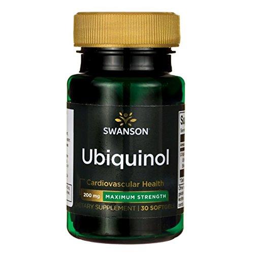 Swanson Maximum Strength Ubiquinol 200 Milligrams 30 Sgels