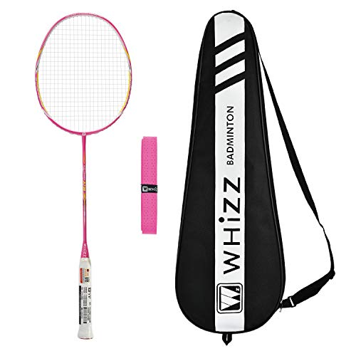 WHIZZ A730 High Modulus Graphite Professional Badminton Racket for Amateur/Intermediate/Club Players (Rose) (Best Intermediate Badminton Racket)