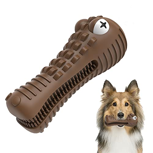 Dog Chew Toys for Aggressive Chewers Large Breed, Squeaky Indestructible Tough Dog Toys, Durable Dog Teeth Cleaning Toys…