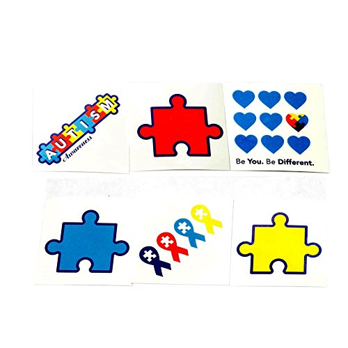 Fun Express Autism Awareness Tattoos -