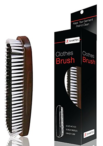 Solid Wood Clothes Brush with Soft & Sturdy Bristles and Handy Grip SC-BR35 (Reversible Solid Scrub)