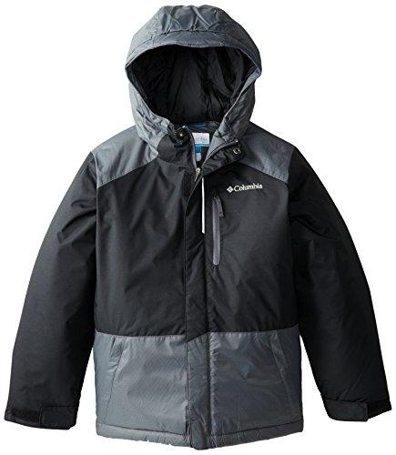 Columbia Big Boys' Lightning Lift Jacket, Black/Graphite, Medium Columbia Boys Winter Outerwear