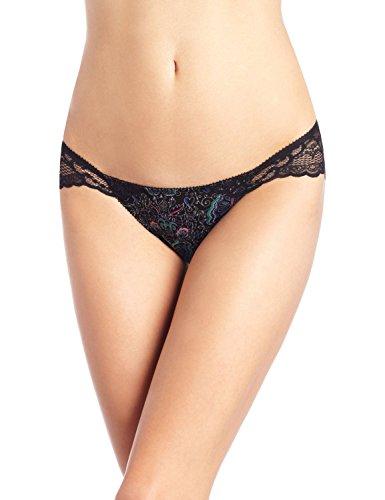 underella by ella moss Womens Mimi Fashion Cheeky Panty Bikini, Butterfly Print Black, Large