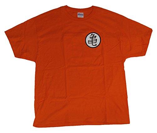 Dragon Ball Super DragonBallZ DBZ GT Roshi Kame Turtle Symbol Goku T-Shirt XL Orange ()