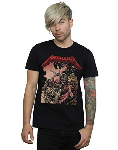 ABSOLUTECULT Metallica Men's The Four Horsemen T-Shirt Black Small