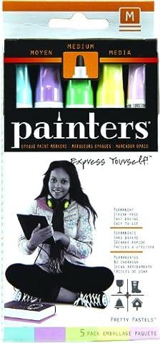 ELMERS Painters Opaque Paint Markers, 5 Set , Pretty Pastel Colors, Medium Point (W7523)