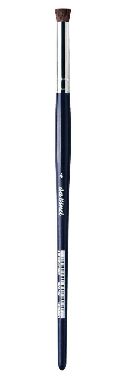 da Vinci Graphic Design Series 132 Pastel Blending Brush, Flat Pony Hair with Blue Handle, Size 4 (132-04)
