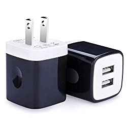 USB Charger Wall, Charger Plug, Ailkin 2Pack Home Adapter Power Charge Block for USB Tablets