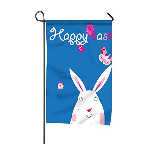 Kite Clipart - WilBstrn Easter with Rabbit Clip Art Welcome Garden Flag Vertical Outdoor & Indoor