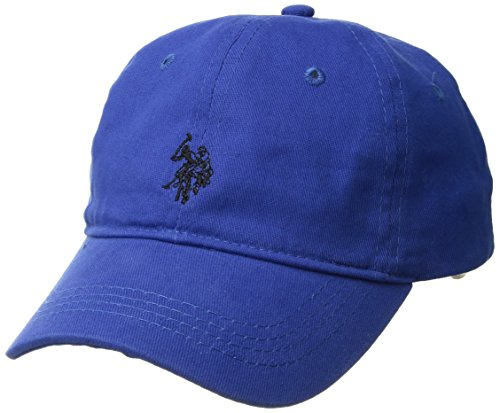 U.S. Polo Assn. Boys' Big Washed Twill Horse Logo Baseball Cap, Adjustable, Cobalt, one Size