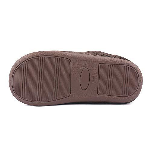 Slipper Keely Intérieur Chaud Hiver Filles slip House Foam Couple Comfy Sliders Matt Hommes Pantoufles Femmes Mk Non Memory Marron Plush BAPqO