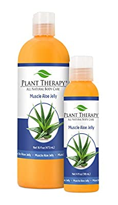 Plant Therapy Muscle Aloe Aromatherapy Jelly, All Natural, Made with 100% Pure Essential Oils