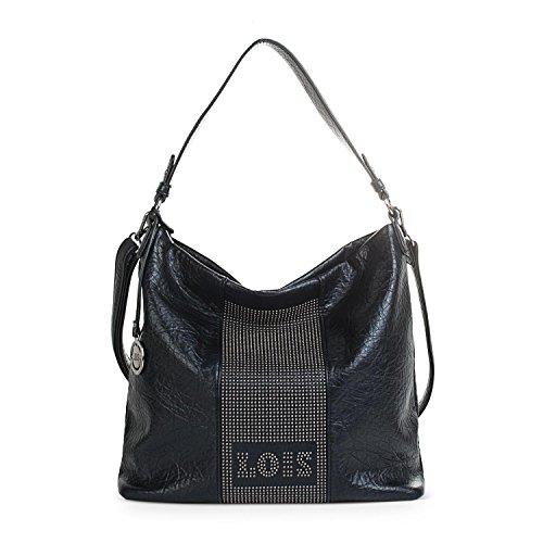 éclair Gris pour hobo bandoulière Noir Poche style arrière de synthétique Doublure à Color avec zip 94770 réglable imprimée Cuir Fermeture LOIS Sac femme Pw1BEq