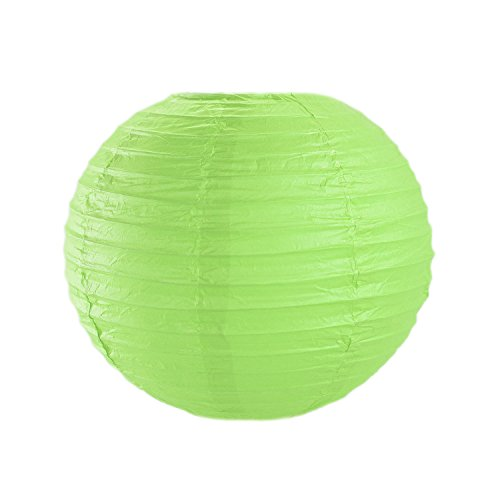 10-Colorful-ChineseJapanese-Hanging-Paper-Lanterns-Metal-Frame-for-Parties-Home-Lamps-Event-Decoration-10-Pack-by-Super-Z-Outlet-Apple-Green