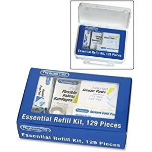 PhysiciansCare Essential First Aid Kit Refill, Contains 129 Pieces from PhysiciansCare