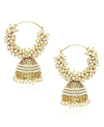 Fancy Earrings Jewelry (Royal Bling Stylish Fancy Party Wear Traditional Indian Jewelry Meenakari Jhumki Jhumka Earrings for Women)