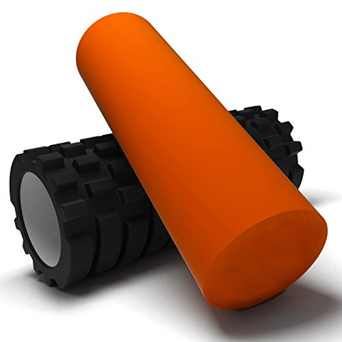 Exercise Foam Roller - Professional Grade, High-Density Incorporates Unique 2 in 1 Trigger-Point Design - Massages, Soothes, Refreshes Invigorates - Fits Conveniently Inside Your Sports Bag by Master Muscle Roller