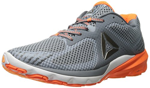 Reebok Men's OSR Harmony Road Running Shoe, Alloy/Asteroid Dust/Wild Orange/Fire Spark/Gable Grey/White, 8 M - Fire Running Shoe Road
