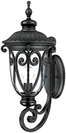Acclaim 2111BK Naples Collection 1-Light Wall Mount Outdoor Light Fixture, Matte Black