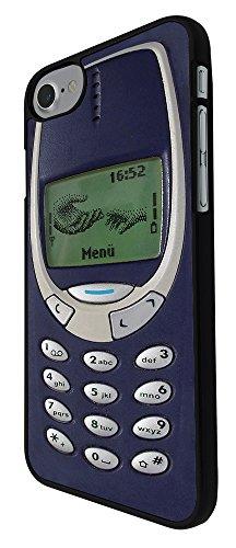 "000593 - Vintage Nokia Old School Funny Design Print Look 3310 Design iphone 7 4.7"" Hülle Fashion Trend Case Back Cover Metall und Kunststoff - Schwarz"