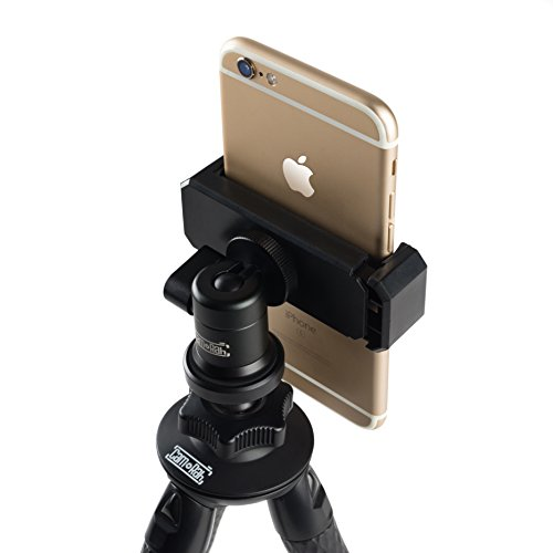 CamRah   Rugged Flexible Tripod Kit   Smartphone, Tablet & GoPro Compatible   Bluetooth Remote   Rugged Durable Aluminum   Ball Head   XL Device Mount