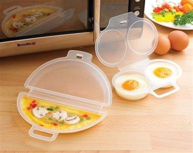 Accesorios para escalfar huevos y hacer tortillas en el microondas ...