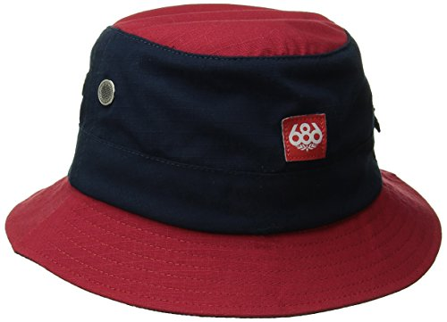 686 Men's Shady Bucket Hat, Cardinal, One Size - 686 Snowboard