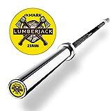 XMark Lumberjack Women's Olympic Bar, Chrome with Black Manganese Phosphate Shaft, 25 mm Grip, Powerlifting Bar, Olympic Barbell